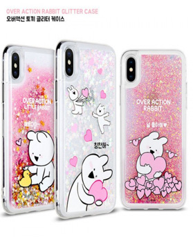 1050098 - [Genuine] Overaction Rabbit Glitter iPhone compatible case