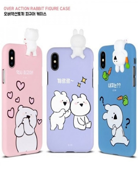 1050112 - [Genuine] iPhone Case compatible with Over Action Rabbit Figure
