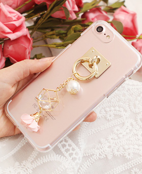 1050114 - Tricozy crystal transparent jelly case compatible with iPhone