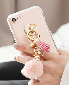 1050130 - Tri Cozy Cotton Candy iPhone Compatible Transparent Jelly Case