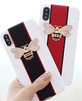 1050134 - TriCozy crystal honey bee 3D curved iPhone compatible hard case