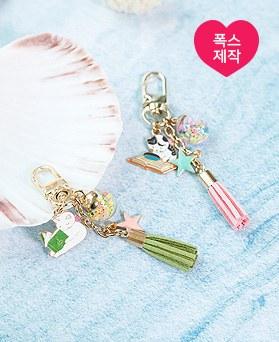 1050140 - <AP1008> [handmade] Reading cat tassel key ring