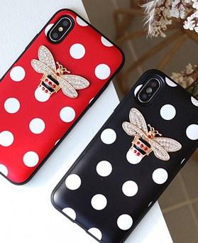 1050143 - TriCozy Dot Honeybee iPhone compatible card door bumper case