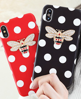 1050145 - TriCozy dot honeybee 3D curved iPhone compatible hard case