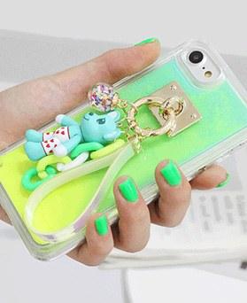 1050151 - Tricozy neon sand cute bear iPhone compatible luminous case