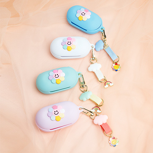 1050156 - <AP1004> [handmade] [key ring + case] smile Flower buzz set