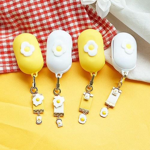 1050157 - <AP1003> [handmade] [key ring + case] Talk Talk Egg Buzz set
