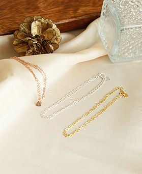 1050175 - <BC819_HC07> [Silver] Monami chain bracelet