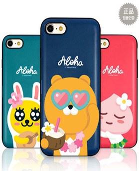 1050188 - [Genuine] Kakao Friends Aloha Multi Card Bumper iPhone compatible case