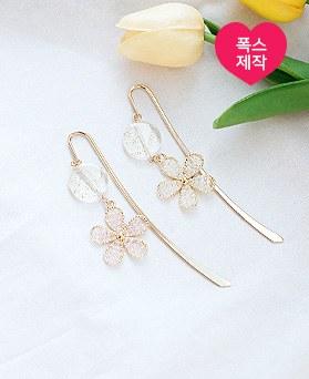 1050190 - <AP1112> [handmade] clear Flower bookmark