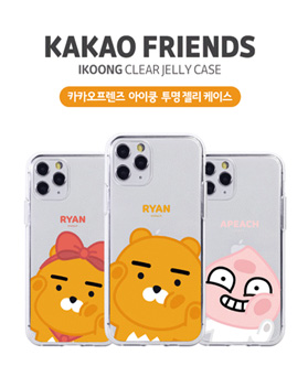 1050193 - [Genuine] Kakao Friends Eye Kung Transparent Jelly iPhone compatible case