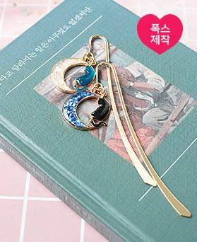 1050196 - <AP1114> [handmade] New Moon cat bookmark