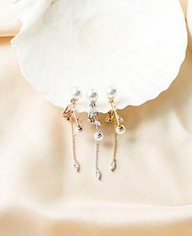 1050216 - <ER2262_DK03> [clip earring] vera pearl clip earring
