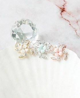 1050218 - <ER2264_DJ06> [clip earring] Sonrisa Flower clip earring