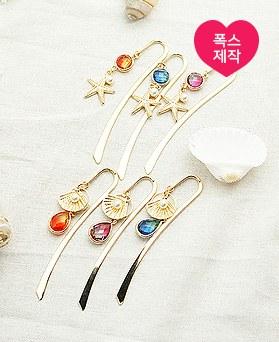 1050225 - [handmade] sea and pearl bookmark